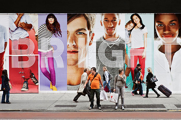 Photos of Giant Billboard People Looming Over Pedestrians in New York City comingsoon 10