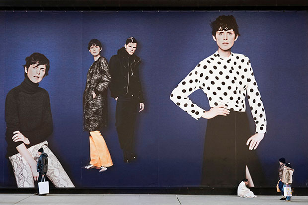 Photos of Giant Billboard People Looming Over Pedestrians in New York City comingsoon 13