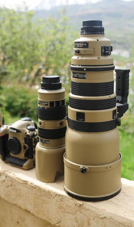 Photographer Gives His Nikon Gear a DIY Desert Mirage Lizard Paint Job sxvrFRH