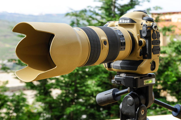 Photographer Gives His Nikon Gear a DIY Desert Mirage Lizard Paint Job VZfw77D