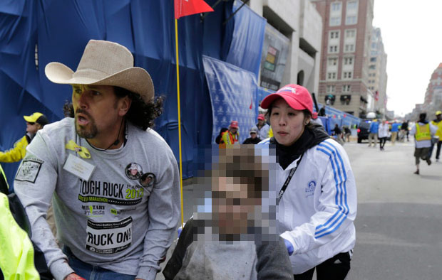 A Blurry Double Standard? A Photo from the Boston Marathon Bombing blurry1