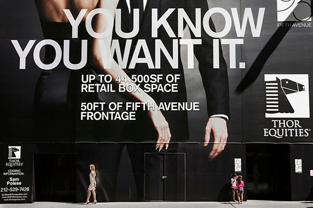 Photos of Giant Billboard People Looming Over Pedestrians in New York City comingsoon 12