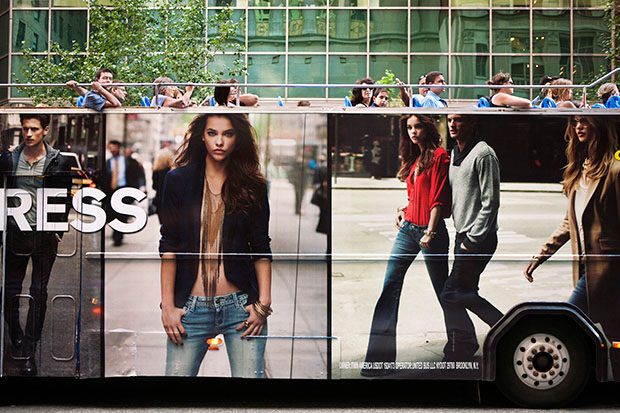 Photos of Giant Billboard People Looming Over Pedestrians in New York City comingsoon 4