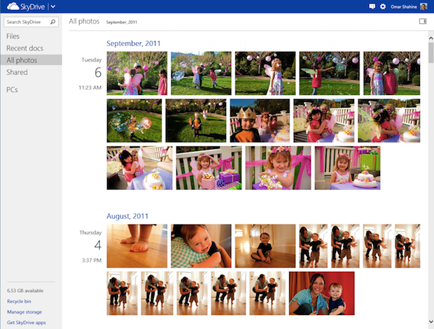 Microsoft Updates SkyDrive, Gets Fancy Photo Timeline and Faster Uploads skydrive1
