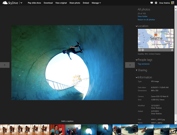 Microsoft Updates SkyDrive, Gets Fancy Photo Timeline and Faster Uploads skydrive2