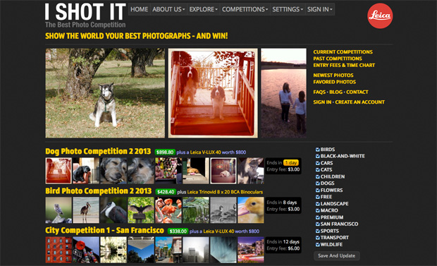 Leicas Largest Stakeholder Buys Stake in Photo Contest Website i shot it screenshot
