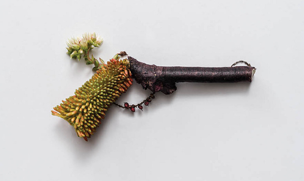 Harm Less: A Photo Series of Firearms Made Entirely out of Plants harmless3