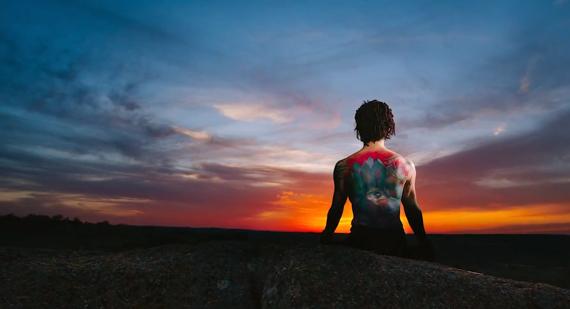 yoga photo shoot at Enchanted Rock, Texas
