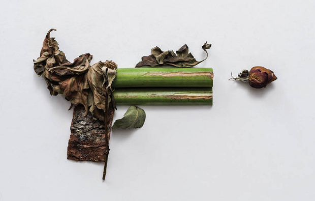 Harm Less: A Photo Series of Firearms Made Entirely out of Plants harmless6