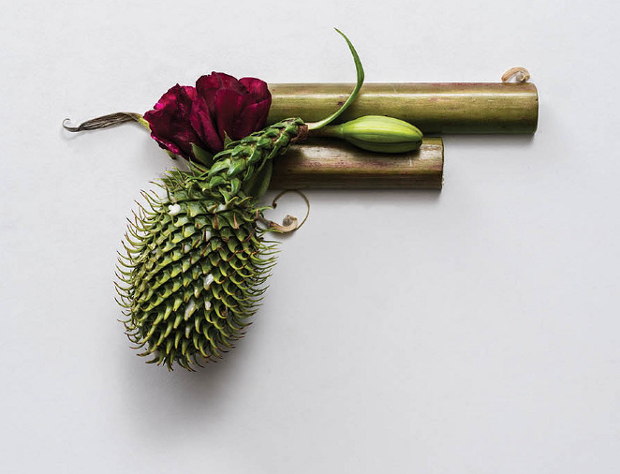 Harm Less: A Photo Series of Firearms Made Entirely out of Plants harmless1