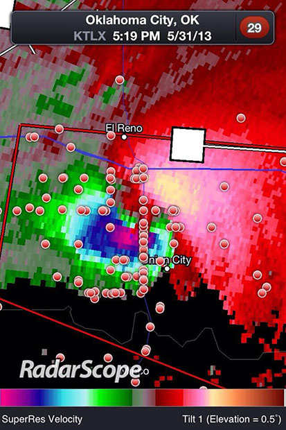 Tornado Chasers Getting Too Close In Their Hunt for Dramatic Imagery map