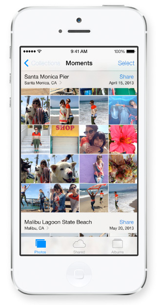 iOS 7 Brings Overhauled Photos App With Filters, Sorting, and Sharing ios 7 photos screen 2