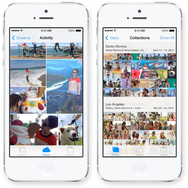 iOS 7 Brings Overhauled Photos App With Filters, Sorting, and Sharing ios7 screencap photos 1